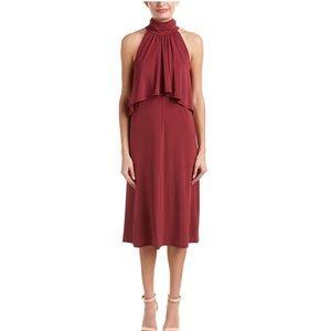 NWT Ella Moss Burgundy Red High Neck Midi Dress